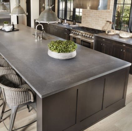 Metropolis Grey Quartz Kitchen Countertop from Arizona Tile